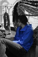 IMG_1234 (MikeyGumn) Tags: blue blackandwhite bristol boat sleep lundy seas bristolchannel uob sobs isleoflundy