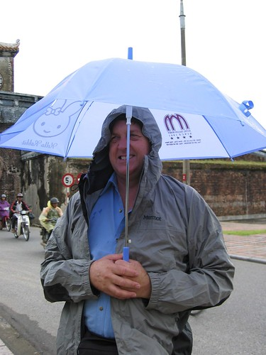"He loved his ""Hello Rabbit"" brella, so cute"