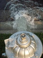 broken hydrant