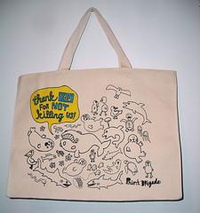 New Print Brigade Bag! (Chris Piascik) Tags: fish green animals shopping bag design wildlife text sealife canvas turtles type seals whales crabs satchel tote otters plasticbags printbrigade chrispiascik
