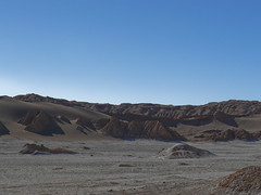 interesting rock and sand formations in Valle de la Luna