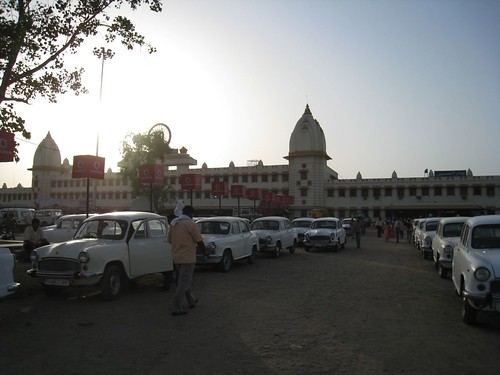 Varanasi train station at sunset