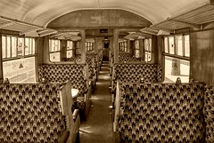 Old Carriage (Chalto!) Tags: sepia train carriage interior railway dorset swanage hdr photomatix 15challengeswinner