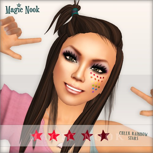 [MAGIC NOOK] Harajuku Stickers - Cheek Rainbow Stars