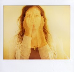 Not looking (~KIM~) Tags: selfportrait self de polaroid doubleexposure spectra ultimateshot ysplix top20femmes fvdoubleexposure