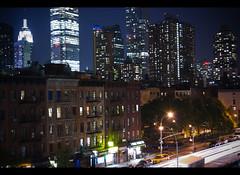 What time is love? (CMP73) Tags: street longexposure usa newyork america buildings skyscrapers manhattan empirestatebuilding traffictrails skylinehotel