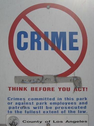 no crime sign