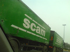 The scam truck (jepoirrier) Tags: green truck spam trailer scam socitcooprativeagricoledelameuse