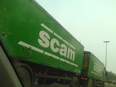The scam truck (jepoirrier) Tags: green truck spam trailer scam sociétécoopérativeagricoledelameuse
