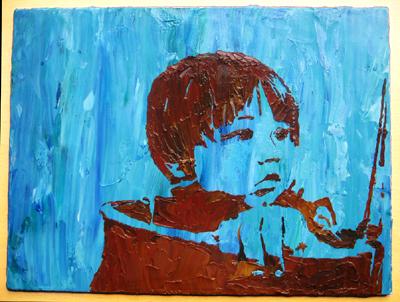 Stencil Portrait - baby Elliott