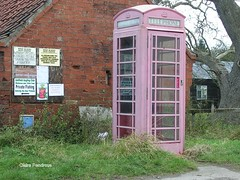 Pink Call Box. (Lady Wulfrun) Tags: pink red call village box telephone faded british nottinghamshire holme notts