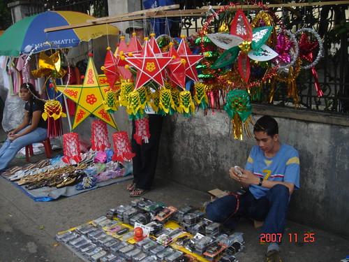 Santo Domingo Church, Philippines parol peddler lantern