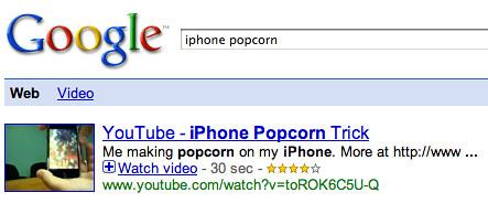 iPhone Popcorn Trick