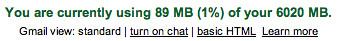 Gmail Reaches 6GB