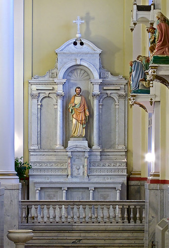 Saints Teresa and Bridget Roman Catholic Church, in Saint Louis, Missouri, USA - altar of Joseph