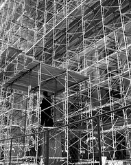 Scaffolding: Not just for construction workers anymore (kevin dooley) Tags: city flowers bw plants philadelphia birds animals statue hall scaffolding natural state mary theory social systems science tools structure best teacher explore final level land knowledge change scaffold agent form teaching marypoppins transition complex development strategy instruction assistance improvement zone mentor initial scientist prarie activities competent learner task mastery sociology continuous poppins mentoring prior educators vygotsky emerged sociocultural proximal recapturing