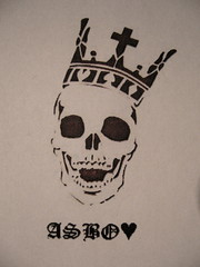 ASBOLUV (printed deaths head design) (asboluv) Tags: print death skull stencil king crown chance gamble asbo asboluv stickerdesign