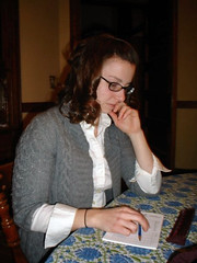Anna Marsh, SOF's first production intern plays a mean game of Scrabble.