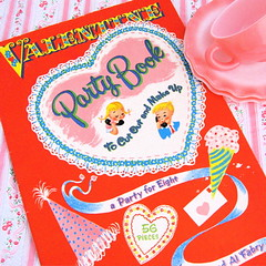 Happy Valentine's Day! (Picnic by Ellie) Tags: pink red party cup vintage book valentine saucer
