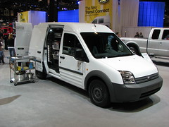 Ford Transit Connect work van (geognerd) Tags: automobile van minivan fordtransitconnect 2008chicagoautoshow