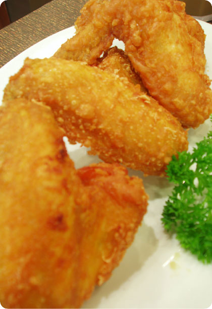 fried chicken prawn paste