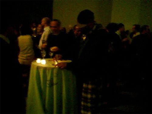 TMNK draws on Tablecloth at MoMA