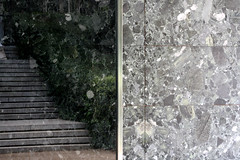 reverse (urban penguin) Tags: barcelona light history public architecture stairs dark private outside design space steps modernism reflect shade harmony miesvanderrohe pavilion layers balance material inside marble proportion mies levels modernist pivotal barcelonapavilio