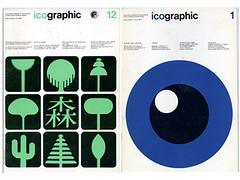 1970s Icographic Magazine covers (Grain Edit.com) Tags: design graphicdesign graphics icons symbols magazines 1970s pictograms isotopes isotypes icographic