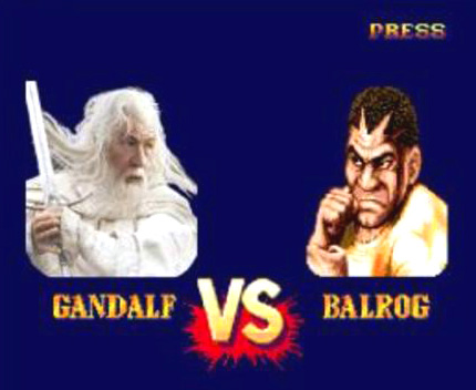 Gandalf Vs Balrog