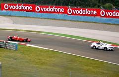 Formula 1 - Safety car leads Massa