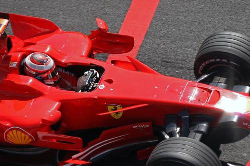 Kimi Friday Exiting Pits Barcelona