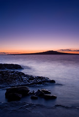 Before Sunrise (Chris Gin) Tags: longexposure newzealand sky sun beach nature water sunrise island rocks auckland nz rangitoto ndfilter gndfilter neutraldensity graduatedfilter mywinners superbmasterpiece theperfectphotographer goldstaraward