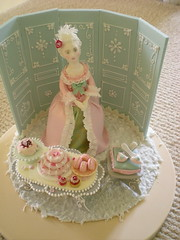 Marie Antoinette 1 (rosey sugar) Tags: pink flowers roses party flower cake lace decoration royal mini sugar queen celebration icing piping petit miniture sugarcraft sugarflowers
