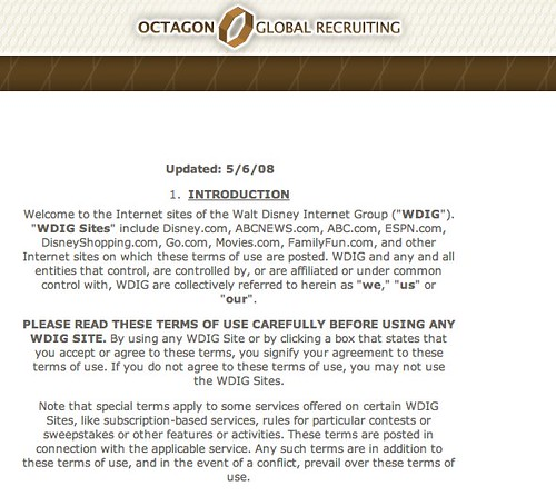 TOS From Lost's Octagonglobalrecruiting.com