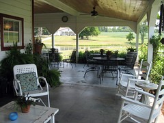 porch view of laurel gray winery