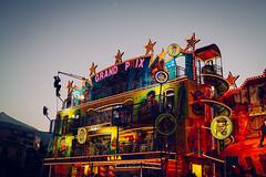 Tenerife, Spain - Grand Prix (Regan Gilder) Tags: tenerife canaryislands thecanaries atlantic atlanticocean fairground funfair evening eveninglight dusk night nightlife nightsky nightlights moon puertodelacruz spain canoneos5dmarkiii canon