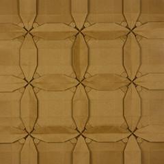 Celtic Cross Tessellation (Michał Kosmulski) Tags: origami cross celticcross christian irish celtic british michałkosmulski tantpaper brown