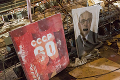 May Day Preparations - Pripyat (Tom Peddle) Tags: prypyat kyivskaoblast ukraine ua may day preparations pripyat banners posters paintings при́пять chernobyl exclusion zone radioactive derelict radiation city abandoned