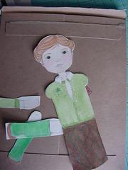 Paper dolls (mel e mo) Tags: painting paper dolls handmade