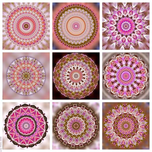 Mosaicos De Flores. Interesting Satn Estampado Mosaico Flores With ...