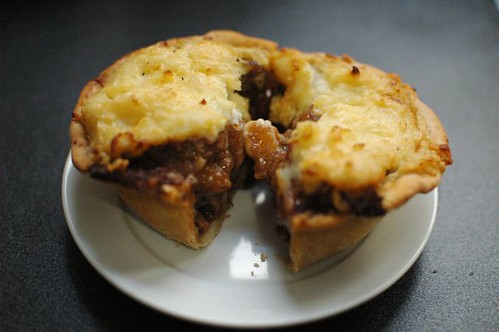 Steak & ale pie with potato