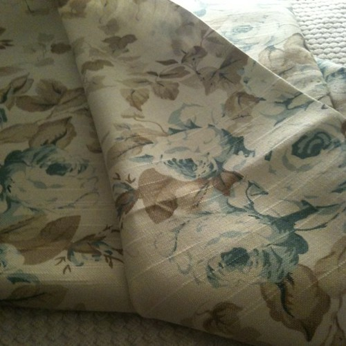 Beautiful Blue Floral Fabric