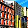 two styles - hanover street - liverpool - england (~ paddypix ~) Tags: red colour liverpool photoshop buildings angles picasa oldcity doorsandwindows specialeffects fragments moodyblues ukandireland iusedpicasa madalenaandherflag urbanside