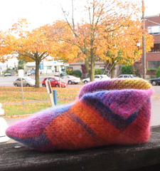 Still in progress: Re-felted slipper