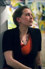 Miranda (Linus Gelber) Tags: show nyc portrait newyork art beautiful brooklyn artist gallery miranda gracespace graceexhibitionspace 6millionpeople mirandahellman