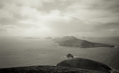 The Blaskets from the edge of Europe (Hugh_C) Tags: ireland bw beautiful kerry atlantic explore ilford sleahead goldenratio blasketislands coumeenoole f1000011 perfectratio