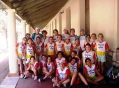 Jugadoras, Profesoras, y Madres que integraron la delegación que viajo a Cba.