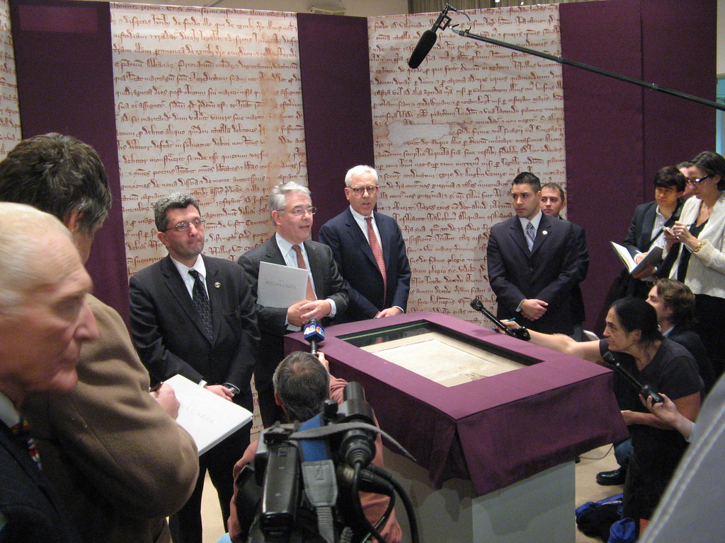 David Rubenstein, the man who bought the Magna Carta, is introduced to the media