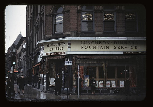 [Sylvia Sweets Tea Room, corner of School and Main streets, Brockton, Mass.] (LOC)