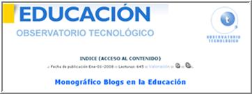 Monográfico blogs